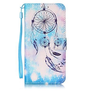 voordelige Galaxy S-serie hoesjes / covers-hoesje Voor Samsung Galaxy S7 edge / S7 / S6 edge Portemonnee / Kaarthouder Volledig hoesje Dromenvanger Hard PU-nahka