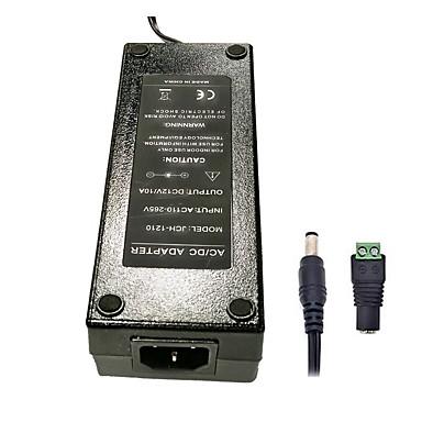 olcso LED-es kiegészítők-zdm 1pc 120w dc12v 10a váltóáramú tápegység dc5.5 x 2.1mm kiváló minőségű tápegység a led fénycsíkhoz - fekete (ac100 ~ 240v 50 hz - dc 12v)