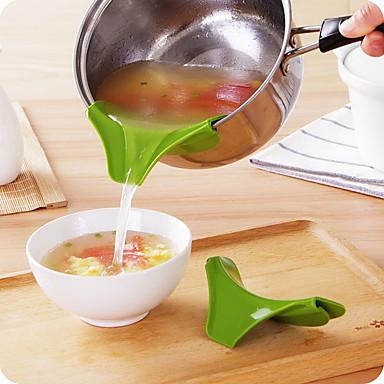 سيليكون قمع صب صنبور وعاء مستديرة حافة منحرف أدوات المطبخ