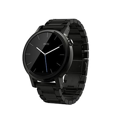 Недорогие Ремешки для Motorola-Ремешок для часов для Мото 360 Motorola Классическая застежка Нержавеющая сталь Повязка на запястье