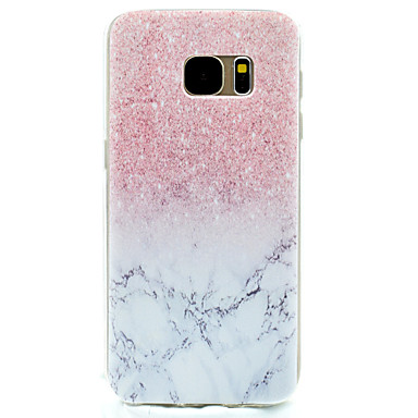 voordelige Galaxy S-serie hoesjes / covers-hoesje Voor Samsung Galaxy S8 Plus / S8 / S7 edge Patroon Achterkant Marmer Zacht TPU