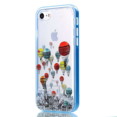 voordelige iPhone 6 hoesjes-hoesje Voor Apple iPhone 8 Plus / iPhone 8 / iPhone 7 Plus Transparant / Patroon Achterkant Cartoon / Balloon Zacht TPU