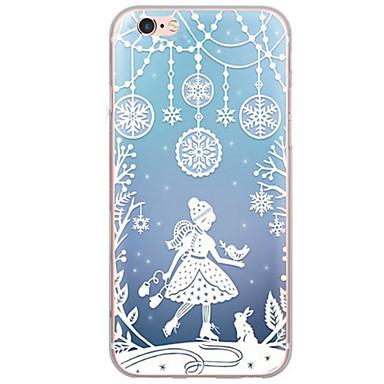 voordelige iPhone 5 hoesjes-hoesje Voor Apple iPhone X / iPhone 8 Plus / iPhone 8 Ultradun / Doorzichtig Achterkant Kerstmis Zacht TPU