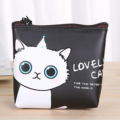 olcso Asztali rendszerezők, irattartók-rajzfilm macska mintás műbőr pénztárca
