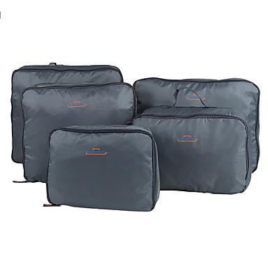 povoljno Putne torbe-5 kompleta Putna torba Organizator putovanja Organizer putne torbe Velika zapremnina Prijenosno Može se sklopiti Putna kutija Najlon Za Putovanje Odjeća / Izdržljivost