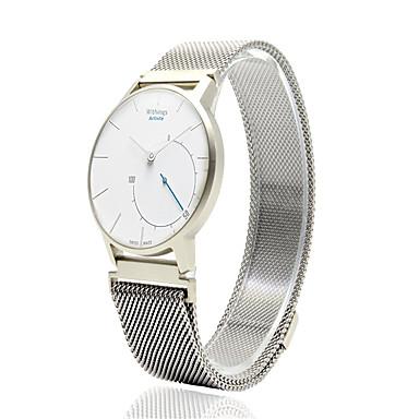 billige Klokkeremmer til Huawei-Klokkerem til Huawei Watch / Withings Activité / Withings Activité Pop Huawei / Withings Milanesisk rem Rustfritt stål Håndleddsrem