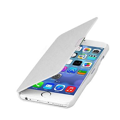 olcso Apple tartozékok-Case Kompatibilitás Apple iPhone 6s Plus / iPhone 6s / iPhone 6 Plus Flip / Mágneses Héjtok Egyszínű Kemény PU bőr