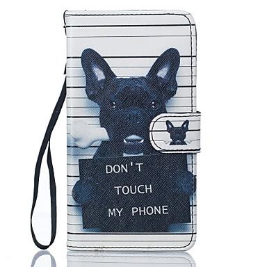 رخيصةأون حافظات / جرابات هواتف جالكسي J-غطاء من أجل Samsung Galaxy J5 (2016) / J5 محفظة / حامل البطاقات / مع حامل غطاء كامل للجسم كلب قاسي جلد PU