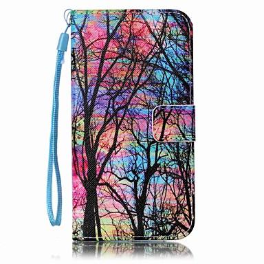 رخيصةأون حافظات / جرابات هواتف جالكسي S-غطاء من أجل Samsung Galaxy S8 Plus / S8 / S7 edge محفظة / حامل البطاقات / مع حامل غطاء كامل للجسم شجرة قاسي جلد PU