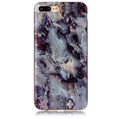 voordelige iPhone 5c hoesjes-hoesje Voor Apple iPhone 7 Plus / iPhone 7 / iPhone 6s Plus IMD Achterkant Marmer Zacht TPU