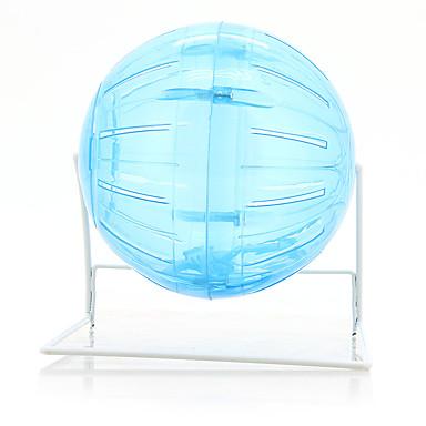 Недорогие Аксессуары для мелких животных-Грызуны Мышь хомяк Колеса для тренировки Портативные пластик