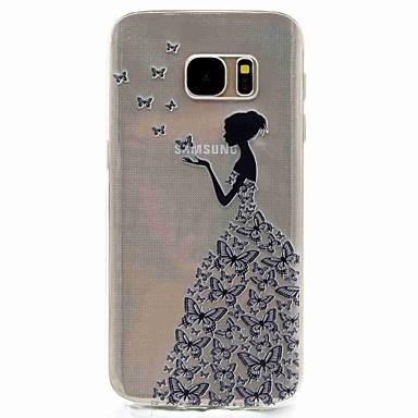 voordelige Galaxy S-serie hoesjes / covers-hoesje Voor Samsung Galaxy S8 / S7 edge / S7 Patroon Achterkant Sexy dame Zacht TPU