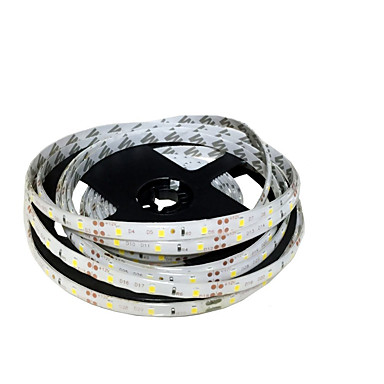 abordables Tiras LED Flexibles-Tiras de luz led flexible de 5 m zdm® 300 leds smd 8 mm 2835 blanco cálido / blanco / rojo cortable / enlazable / autoadhesivo 12 v