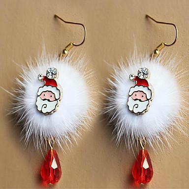 رخيصةأون أقراط-الأزياء الأوروبية والأمريكية سانتا كلوز البرقوق تزلف أضاليا أبيض أحمر الأقراط الكريستال عيد الميلاد الملحقات