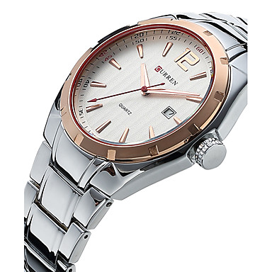 6742f72d5fc CURREN Pánské Křemenný Náramkové hodinky Vojenské hodinky Sportovní hodinky  Voděodolné Nerez Kapela Luxus Vintage Na běžné nošení Hodinky 5346766 2018  – € .