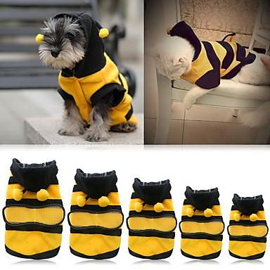 رخيصةأون ملابس وإكسسوارات الكلاب-قط كلب ازياء تنكرية هوديس ملابس الكلاب أصفر كوستيوم كلب البلدغ شبعا اينو كوكر سبانيل قطن حيوان الكوسبلاي XXS XS S M L XL