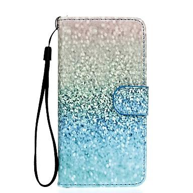 Недорогие Чехлы и кейсы для Galaxy S6 Edge-Кейс для Назначение SSamsung Galaxy S7 edge / S7 / S6 edge Кошелек / Бумажник для карт / со стендом Чехол Градиент цвета Твердый Кожа PU