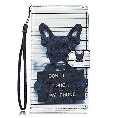 رخيصةأون حافظات / جرابات هواتف جالكسي S-غطاء من أجل Samsung Galaxy S7 edge / S7 / S6 محفظة / حامل البطاقات / مع حامل غطاء كامل للجسم كلب قاسي جلد PU