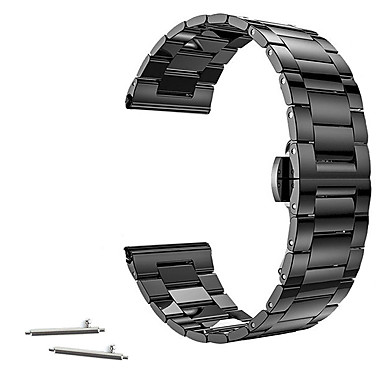 billiga Klockarmband till Huawei-Klockarmband för Huawei Watch / Withings Activité / Withings Activité Pop Huawei / Withings Klassiskt spänne Rostfritt stål Handledsrem
