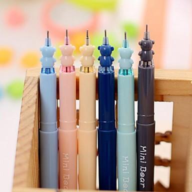 olcso Ceruzák és tollak-Gel Pen Toll Gél tollak Toll,Műanyag Hordó Fekete Ink Colors For Iskolai felszerelés Irodaszerek Csomag
