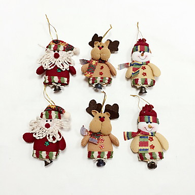 6pcs High Quality Christmas Ornaments with Small Bell ...