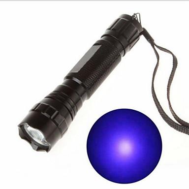 olcso Black Light Flashlights-UV fényes elemlámpák Újratölthető 130 lm LED LED 1 Sugárzók 1 világítás mód Újratölthető Az ultraibolya fény Kempingezés / Túrázás / Barlangászat Kerékpározás Utazás / Alumínium ötvözet