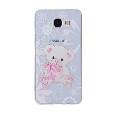 Недорогие Чехлы и кейсы для Galaxy A7-Кейс для Назначение SSamsung Galaxy A8(2016) / A5(2016) / A3(2016) С узором Кейс на заднюю панель Животное Мягкий ТПУ
