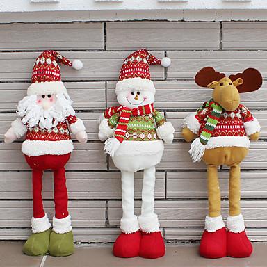 levne Výzdoba domácnosti-Santa Claus sněhulák Vánoční panenky Vánoční ozdoby pro dům zatahovací stojící hračka narozeninový pár dárek děti děti