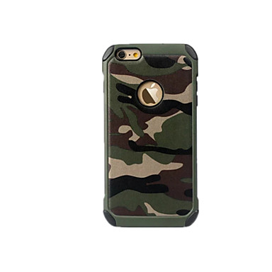 voordelige iPhone 7 Plus hoesjes-hoesje Voor Apple iPhone 8 Plus / iPhone 8 / iPhone 7 Plus Schokbestendig Achterkant Camouflage Kleur / Effen Hard PC