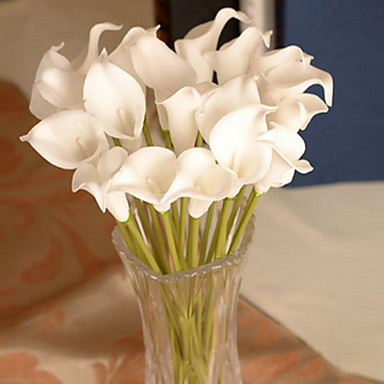 Artificial Flowers 1 Branch Simple Style Calla Lily Wall Flower