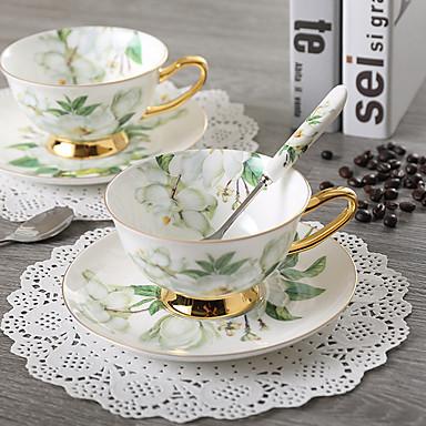 رخيصةأون كأس الحمر-أكواب الشاي / زجاجات المياه / أقداح القهوة / شاي ومشروبات 1 PC خزفي, - جودة عالية