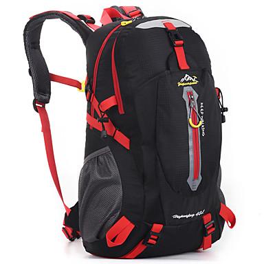 olcso Hátizsákok és táskák-40 L Hátizsákok hátizsák Többfunkciós Vízálló Külső Kempingezés és túrázás Utazás Műanyag Fekete Narancssárga Rubin