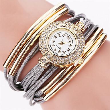 09f0c8efd28 Dámské Náramkové hodinky hodinky zábalu Křemenný Z umělé kůže Černá   Bílá    Modrá S kamínky Cool Punk Analogové dámy Přívěšky Třpyt Vintage Sladkosti  ...