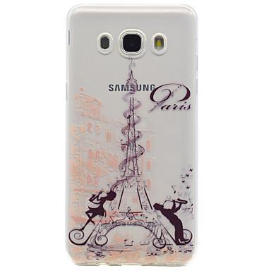 povoljno Maske za mobitele-Θήκη Za Samsung Galaxy On 7 / On 5 / J7 (2016) Uzorak Stražnja maska Eiffelov toranj Mekano TPU