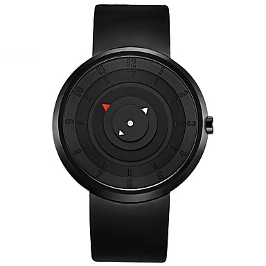 Недорогие Часы на кожаном ремешке-Муж. Спортивные часы Модные часы Армейские часы Кварцевый Японский кварц На каждый день Защита от влаги Аналоговый Белый Черный / силиконовый