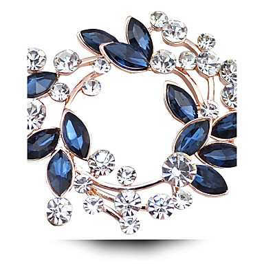Жен. Кристалл Броши - Искусственный бриллиант, Австрийские кристаллы Дамы,  Роскошь Брошь Бижутерия Пурпурный 77881b7edf5