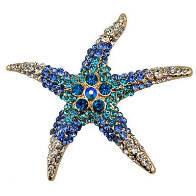 نسائي دبابيس نجم البحر سيدات موضة بروش مجوهرات أبيض أحمر أزرق من أجل مناسب للحفلات مناسب للبس اليومي فضفاض