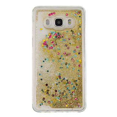 voordelige Galaxy J-serie hoesjes / covers-hoesje Voor Samsung Galaxy J5 (2016) / J5 / J3 (2016) Stromende vloeistof Achterkant Glitterglans Zacht TPU