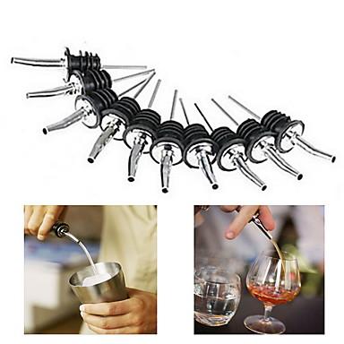 10pcs sticle de vinuri de sticlă de vin din oțel inoxidabil lichid de șampanie de oțel