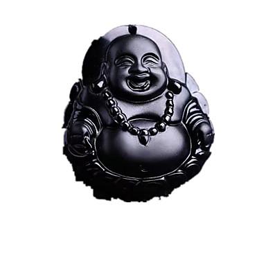 Недорогие Ожерелья-Муж. Янтарь Ожерелья с подвесками Религиозные Янтарь Серебряный Ожерелье Бижутерия Назначение Повседневные