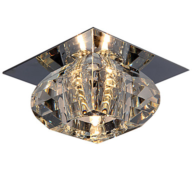 LightMyself™ Montaj Flush Lumină Spot Crom Cristal, Stil Minimalist 110-120V / 220-240V Bec Inclus / G4
