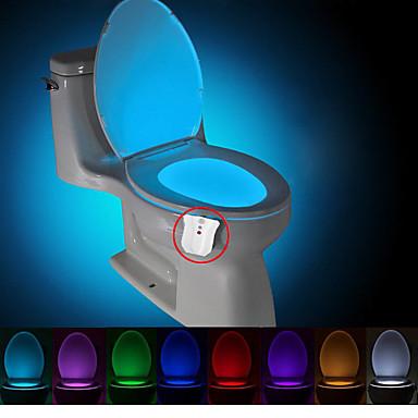 hesapli Yenilikçi LED Işıklar-Brelong 1 adet yükseltme su geçirmez 8-color insan vücudu hareket sensörü pir tuvalet gece lambası