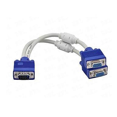 Недорогие VGA-1 х VGA мужчины к 2 х VGA женский кабель VGA сплиттер