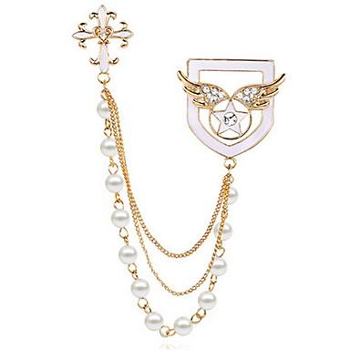 رخيصةأون بروشات-نسائي دبابيس موضة بروش مجوهرات ذهبي من أجل مناسب للبس اليومي فضفاض