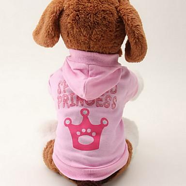 رخيصةأون ملابس وإكسسوارات الكلاب-قط كلب هوديس ملابس الكلاب متنفس زهري كوستيوم قطن تيجان و أميرات موضة XS S M L