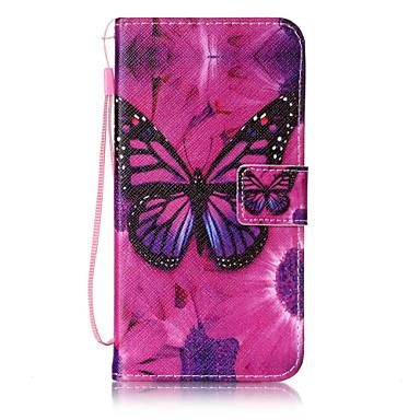 رخيصةأون حافظات / جرابات هواتف جالكسي J-غطاء من أجل Samsung Galaxy On 5 / J7 (2016) / J5 (2016) محفظة / حامل البطاقات / قلب غطاء كامل للجسم فراشة قاسي جلد PU