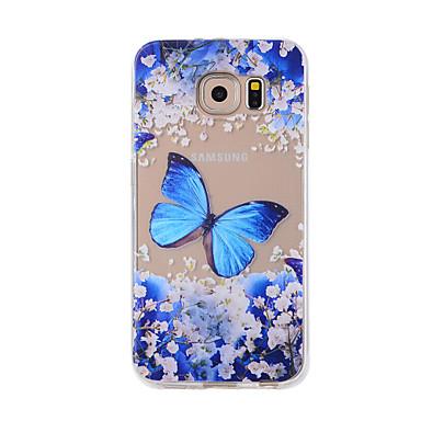رخيصةأون حافظات / جرابات هواتف جالكسي S-غطاء من أجل Samsung Galaxy S7 edge / S7 / S6 edge نموذج غطاء خلفي فراشة ناعم TPU