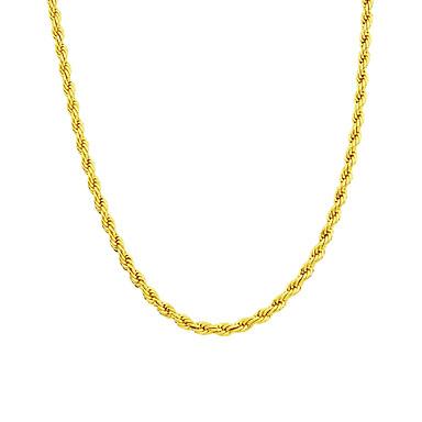 رجالي قلادات السلسلة سلسلة الثعلب مخصص موضة نحاس ذهبي قلادة مجوهرات من أجل زفاف مناسب للحفلات مناسب للبس اليومي فضفاض الرياضة