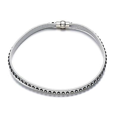 Недорогие Ожерелья-Муж. Ожерелья-бархатки Классический Кожа Белый Черный Ожерелье Бижутерия Назначение Новогодние подарки День рождения Повседневные