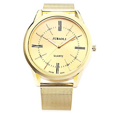 رخيصةأون ساعات الرجال-JUBAOLI رجالي ساعة المعصم كوارتز ذهبي 30 m عرض ساخن مماثل سحر كاجوال موضة - أبيض أسود أزرق سنة واحدة عمر البطارية / SSUO LR626